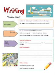 English Worksheet: DESCRIBING MY PLACE OF WORK