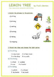 English Worksheet: Lemon tree song - easy and fun