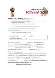 English Worksheet: FIFA World Cup Russia 2018