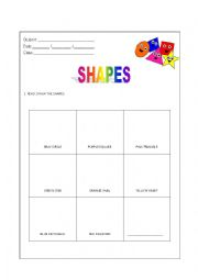 Shapes - Read and Draw