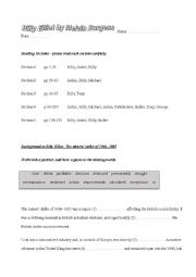 English Worksheet: Billy Elliot (the book of the film, by Melvin Burgess) worksheets