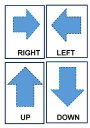 English Worksheet: Flash-Cards Directions