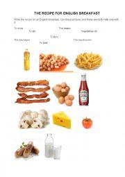 English Worksheet: English Breakfast