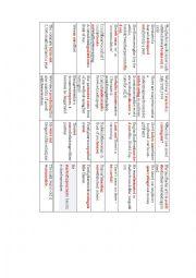 English Worksheet: Phrasal verbs memory game