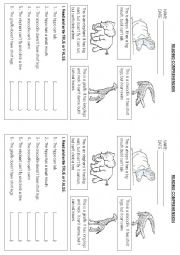 English Worksheet: Zoo Animals - Reading