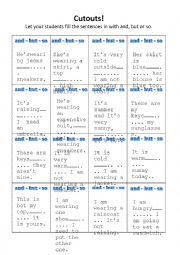 English Worksheet: Once there was AND, SO & BUT