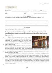 English Worksheet: Test on