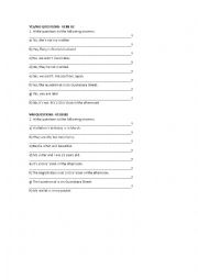 English Worksheet: YES/NO QUESTIONS- VERB BE- AND WH QUESTIONS- VERB BE