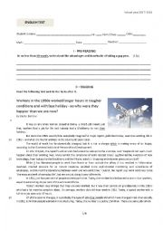 English Worksheet: Another test on