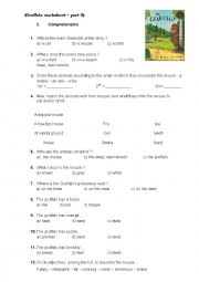 English Worksheet: Gruffalo worksheet - comprehension
