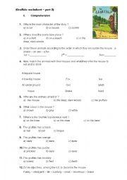 English Worksheet: Gruffalo worksheet - comprehension