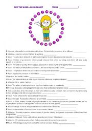 English Worksheet: PASS THE WORD - EQUALPHABET