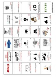 English Worksheet: Boardgame - subject and object questions