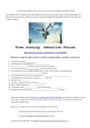 English worksheet: Free running