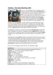 English worksheet: Spooky ESL Reading Activity - Polybius