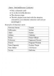 English worksheet: Improvisation Game