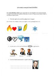 English Worksheet: Let it Snow- Song study- Frank Sinatra