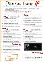 English Worksheet: OTHER WAYS OF SAYING IF
