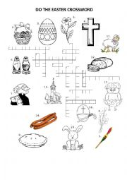 English Worksheet: EASTER SYMBOLS CROSSWORD