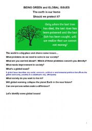 Social Issues & Being Green