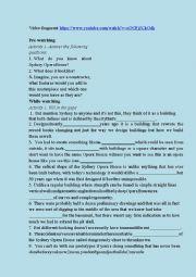 English Worksheet: Watching tasks on Sydney Opera House