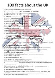 English Worksheet:  facts about Great Britain  a MUST have !!! - YouTube video to fill in