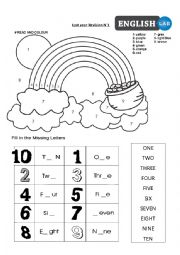 English Worksheet: Revision for 2nd grade