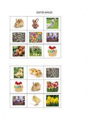 English Worksheet: Easter bingo