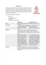 writing an essay (argumentative essay and opinion essay)