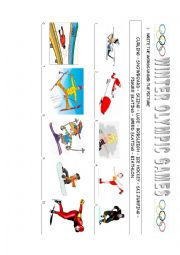 English Worksheet: winter Olympic sports