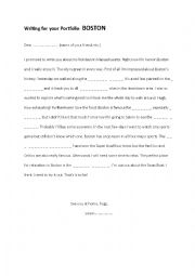 English Worksheet: Boston Skeleton Letter