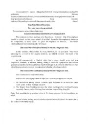 English Worksheet: prepositions in adjective clauses