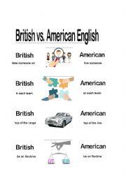 English Worksheet: British vs Ameican English
