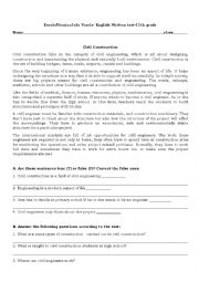 English Worksheet: civil engineer