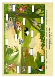 English Worksheet: Wild animals. Part IV. Who lives in the jungle?