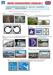 British English Motorway Vocabulary 2