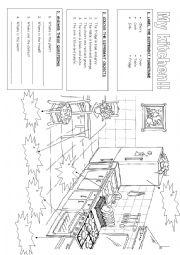 English worksheet: My house: My kitchen