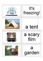 English worksheet: Discover English 2 Unit 3a Flashcards