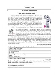 English worksheet: Test on robots and technology 2