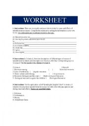 English Worksheet: Cause and effect of natural resources misuse