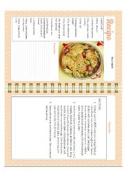 English Worksheet: Chicken Mint with Asparagus