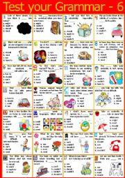 English Worksheet: Test your grammar - 6 (Modals) + KEY