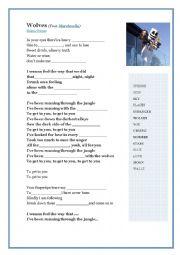 English Worksheet: Selena Gomez, Marshmello - Wolves