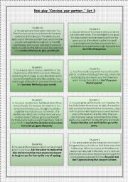 English Worksheet: Role-play