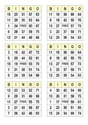image about Bingo Calls Printable titled Figures bingo worksheets