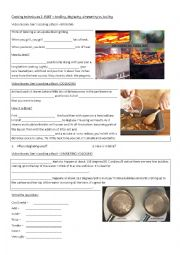 English Worksheet: Cooking techniques - 2. PART