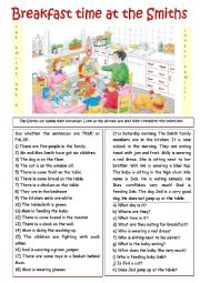 English Worksheet: Breakfast with the Smiths