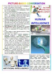 English Worksheet: Picture-based conversation : topic 115 - Human Intelligence vs  Artificial Intelligence.