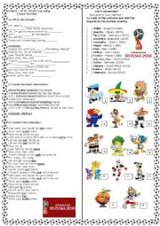English Worksheet: World Cup 2018 theme song