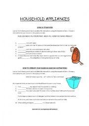 English Worksheet: Instructions on How to Operate Electrical Appliances